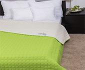 Naturtex Laura microfiber ágytakaró 235x250 cm/ zöld-törtfehér