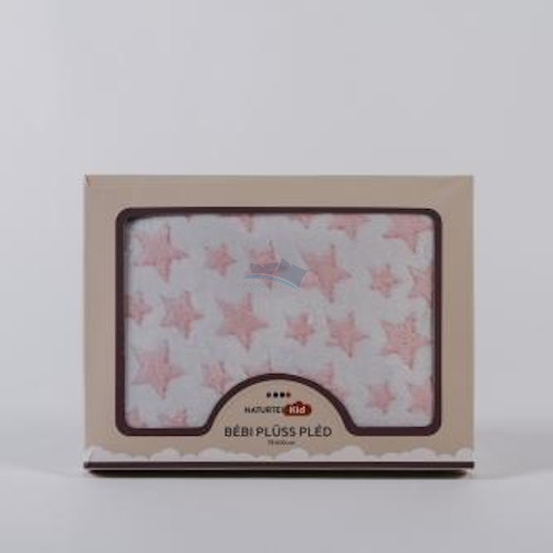 Rózsaszín gyermekpléd 100x75 cm /Pink Star