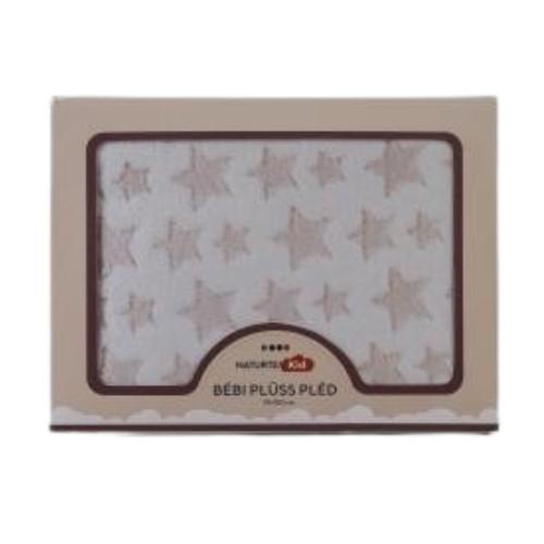 Bézs gyermekpléd 100x75 cm/ Beige Star